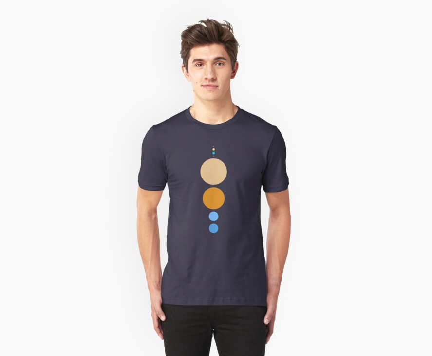 Planets To Scale (vertical) by jezkemp