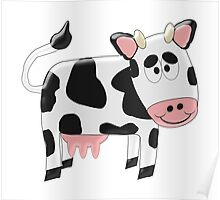Black And White Cow Design Poster