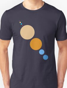 Planets To Scale (diagonal) T-Shirt