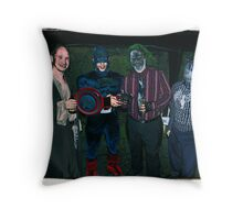 Super Heroes at play! Throw Pillow