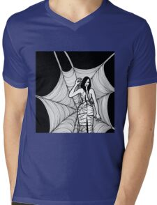 lady with spider Mens V-Neck T-Shirt