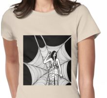lady with spider Womens Fitted T-Shirt