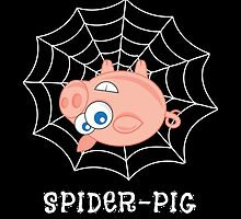 Spider-Pig on Black by groovyspecs