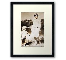 My mother and me Framed Print