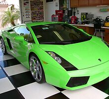 green lambo by Lauren Rosa