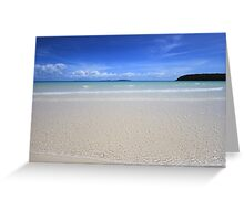 White Sand Beach, Great Barrier Reef, Cape York, Australia Greeting Card