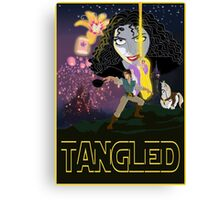 Tangled Star Wars Poster Canvas Print