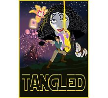 Tangled Star Wars Poster Photographic Print