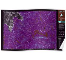 Maine USGS Historical Map Flagstaff Lake 807917 1994 100000 Inversion Poster