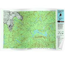 Maine USGS Historical Map Flagstaff Lake 807917 1994 100000 Poster