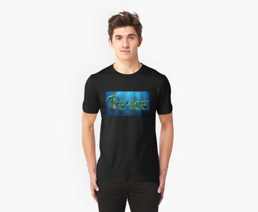 Personalized Name T-shirts 2- REQUESTED: PEACE by Lisa  Weber