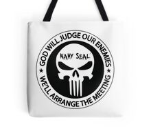god will judge our enemies we'll arrange the meeting - white Tote Bag