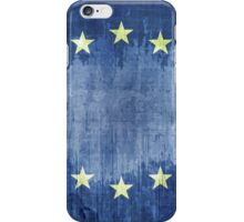 Grunge Flag Of Europe iPhone Case/Skin