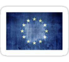 Grunge Flag Of Europe Sticker
