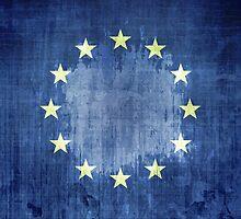 Grunge Flag Of Europe by Olga Altunina