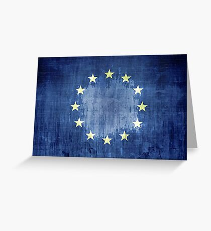 Grunge Flag Of Europe Greeting Card