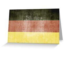 Grunge Flag Of Germany Greeting Card