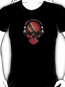 Dj Skull with Trinidad and Tobago Flag T-Shirt