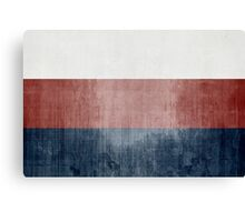 Grunge Flag Of Russia Canvas Print