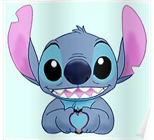 Stitch Loves You Poster