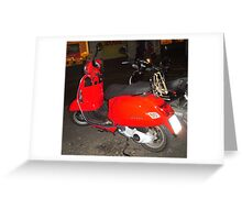 The red vespa Greeting Card