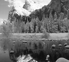 REFLECTION,MERCED RIVER by Chuck Wickham