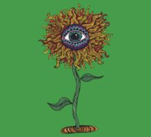 Psychedelic Sunflower - Exciting New Art - Doona is my favourite! Kids Tee