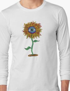Psychedelic Sunflower - Exciting New Art - Doona is my favourite! Long Sleeve T-Shirt