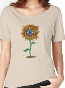 Psychedelic Sunflower - Exciting New Art - Doona is my favourite! Women's Relaxed Fit T-Shirt