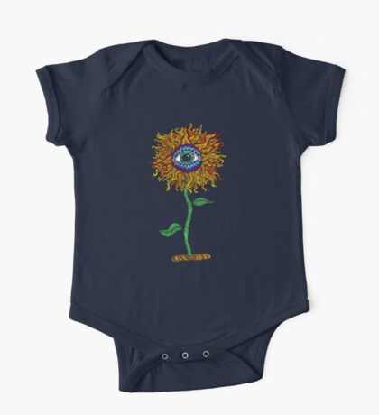 Psychedelic Sunflower - Exciting New Art - Doona is my favourite! One Piece - Short Sleeve