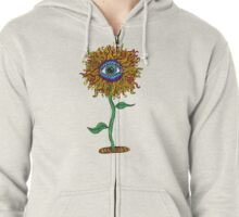 Psychedelic Sunflower - Exciting New Art - Doona is my favourite! Zipped Hoodie