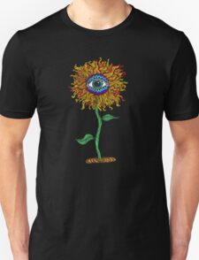 Psychedelic Sunflower - Exciting New Art - Doona is my favourite! Unisex T-Shirt