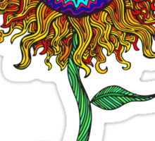 Psychedelic Sunflower - Exciting New Art - Doona is my favourite! Sticker
