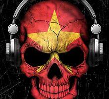 Dj Skull with Vietnamese Flag by Jeff Bartels