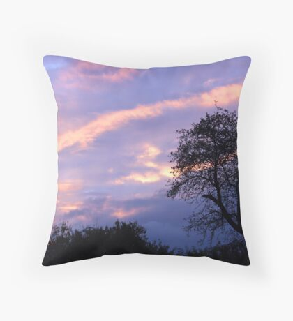 Apple Tree Sunset Throw Pillow