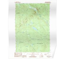 Maine USGS Historical Map Foley Pond 105142 1989 24000 Poster