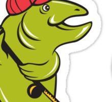 Trout Fly Fishing Rod Hook Cartoon Sticker