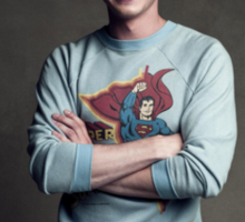 Logan Lerman - Superman Hoodie Sticker