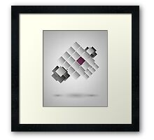 Abstract Design On Gray Background Framed Print