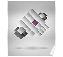 Abstract Design On Gray Background Poster