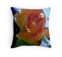 Close Up Drops Throw Pillow