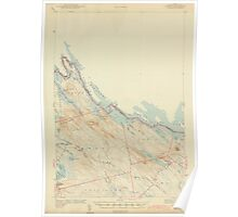 Maine USGS Historical Map Forest 306564 1942 62500 Poster