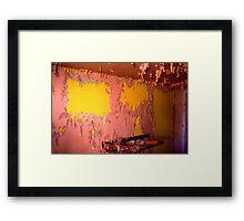 Peeling Paint - No-Tell Motel (Route 30) Framed Print