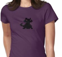 Alley Cat Pixel Style- Retro DOS game fan items Womens Fitted T-Shirt