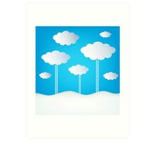 Abstract Design Clouds Art Print