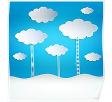 Abstract Design Clouds Poster