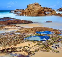 Rocks and rock pools by Leah-Anne Thompson