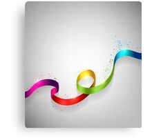 Color Ribbon Canvas Print