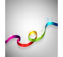 Color Ribbon Photographic Print
