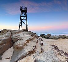 Shark Tower and jagged rocks Redhead by Leah-Anne Thompson